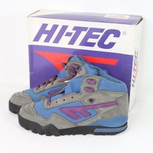 Vtg New Hi Tec Womens Voyageur Hiking Boots Gray